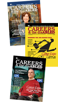 Image of three CAREERS & the disABLED Magazine Covers