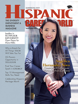 Hispanic Career World magazine cover