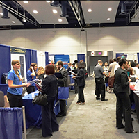 A photo of people at EOP's STEM Diversity Career Expo